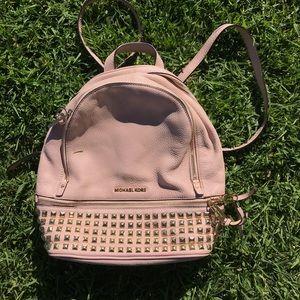 MICHAEL KORS Pink Studded Backpack